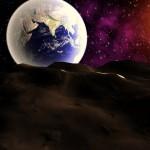Sun+ Earth from moon